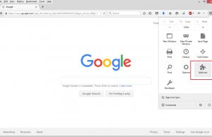 Open Add-ons in Firefox Menu
