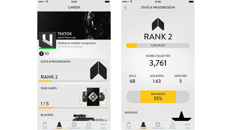 Battlefront companion app
