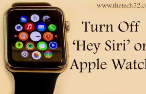 Turn Off 'Hey Siri'